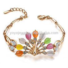 Good quality wholesale stretch bracelets diy korea fashion beaded peacock bracelets