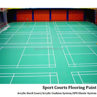 Hot factory top quality acrylic acid tennis court with reasonable price beautiful badminton court