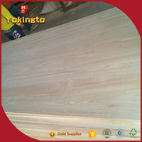 Factory price paulownia edge glued boards for Furniture and Construction