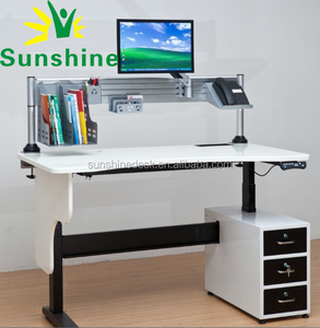 Electric height adjustable tables, Modern Design,dimmable led desk lamp