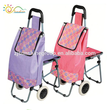 Travel trolley bags with chair pet food processing