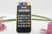Promotion gift Dual power touch screen pocket calculator with pen set
