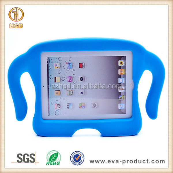 Cute Elephant Freestanding Shockproof Laptop EVA Case for Ipad 3