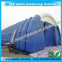 Easy set up and packed up inflatable storage warehouse tent