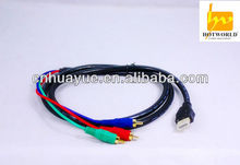 HDMI to 3-RCA Male composite Audio Video Converter Cable For HDTV