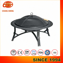 large steel outdoor fire pit