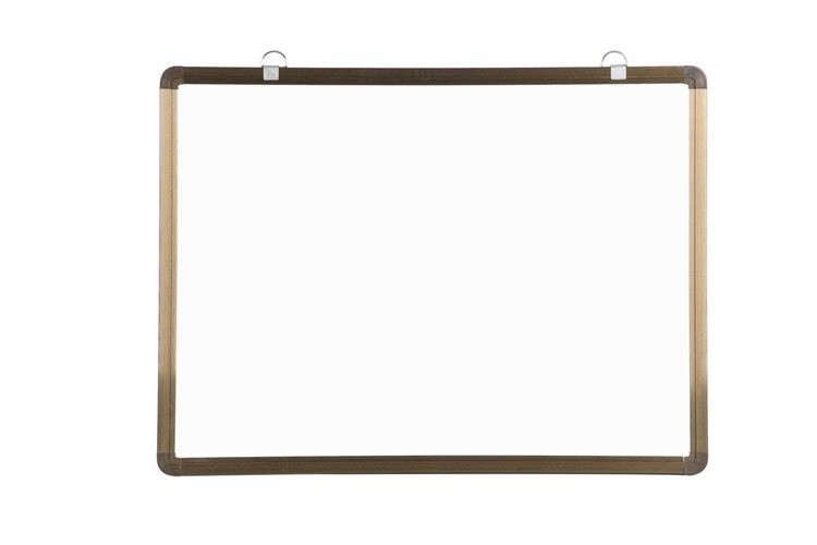 Dry wipe magnetic whiteboard with grey line