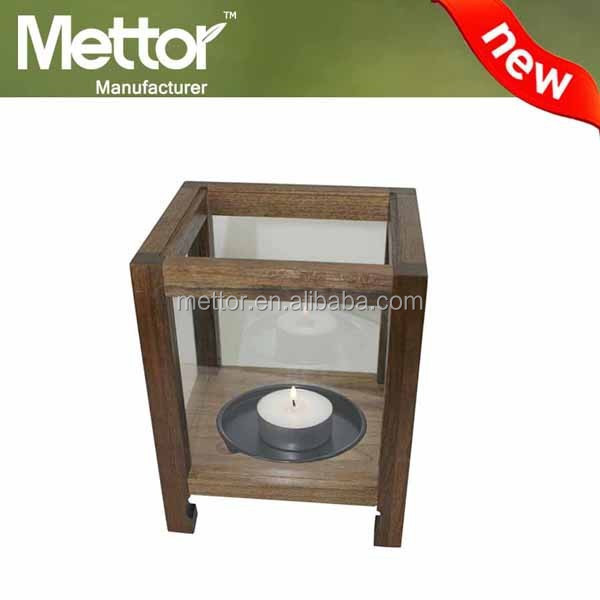 2016 METTOR wood material wood candle holder, candle making equipment