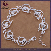 Ladies Popular Dolphin Shape 925 Silver Costume Jewelry New Items Bracelet (KB036)