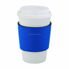 factory price neoprene coffee sleeve , blue color