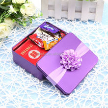 custom printed packaging gift tin box for watch or tea or underwear