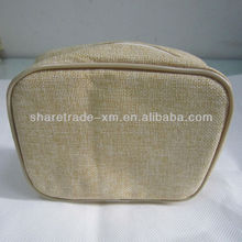 Customize Jute Burlap Cosmetic Bag