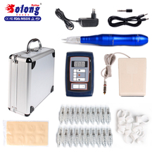 Solong New product 50 Needle Cartridges LDC Power Supply best permanent make up tattoo pen kit