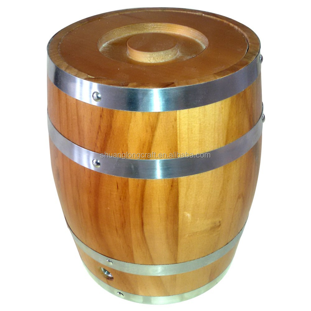 Professional Manufacturing Supplier Wooden Beer <strong>Barrel</strong> Ice Bucket