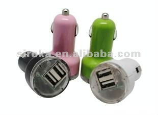 Mobile Phone Dual USB Car Charger For Iphone ipad ipod Android