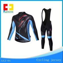 Supplier Mens Winter Cycling Jersey Long Sleeve Cycling Jcket Front Zip Pocket Mountain Bike Jersey
