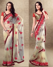 Triveni Very English Classy Embroidered Saree-2517