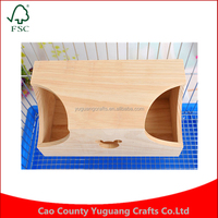 Custom China light color cartoon wooden small pet hamster squirrel house Cages