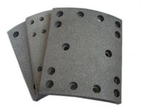 Semi-metallic DAF truck spare parts, WVA 19094 brake lining for heavy duty truck by factory direct supplying