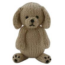 Cotton hand knitted big head dog plush stuffed toys
