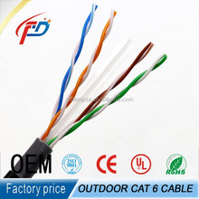 Waterproof Gel Filling UV-Resistance Cat6 Outdoor UG Cable