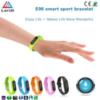 2015 New Products E06 waterproof Fitness Tracker bracelet smart watch bluetooth wristband smart watch for mobile phone