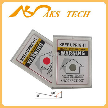 Shockaction tilt monitor leaning label tilt indicator