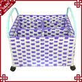 SD cheap laundry storage basket straw basket with handle made in China