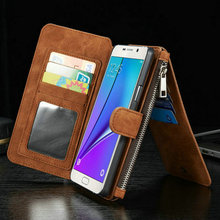 CaseMe 14 Card Slots Leather Flip Cover For Samsung Note 5, PU Leather Case for samsung note 5 wallet Alibaba hot selling