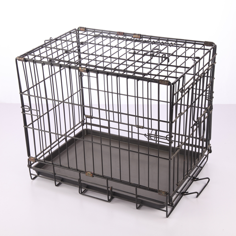 High quality metal panels dog kennels with wheels