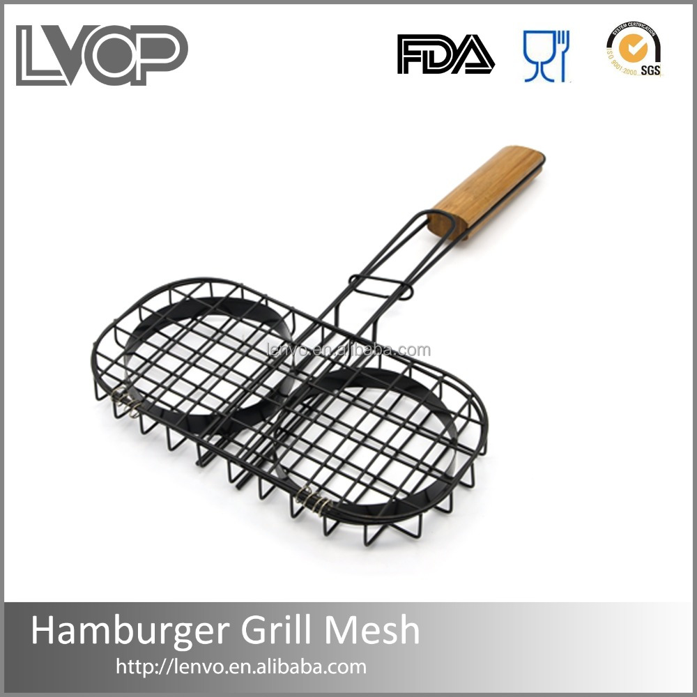 BBQ-GM006 Professional Iso Factory Stainless Steel Barbecue Basket Bbq Grill Wire Mesh Net