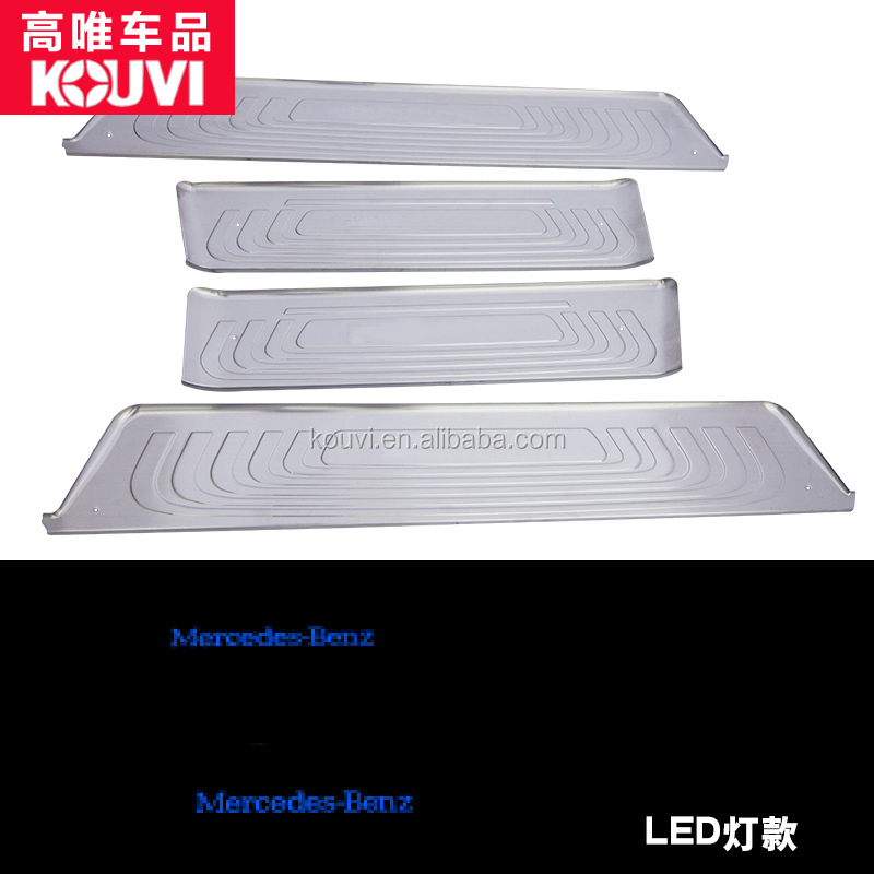 Meredes Ben z 2016 v-class stainless steel LED door sill palte tuning body kit