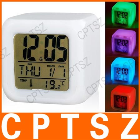 Glowing LED Night Light Color Changing Digital Alarm Clock