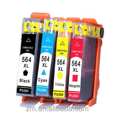 564 564XL 4 colors full Ink Cartridge compatible for For HP Photosmart 5510 5515 5520 5514 C309a C309n C310a C410b printer