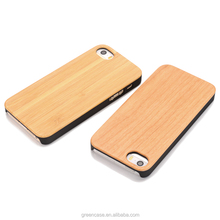 Wood Case Wooden+PC Mobile Phone Bags for Iphone5/5s/5 se