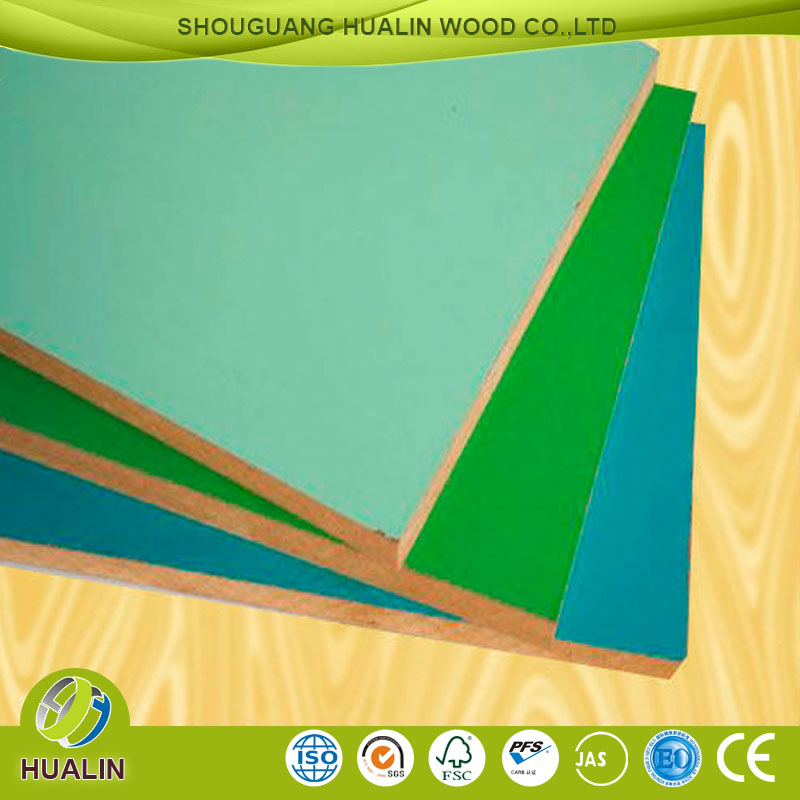 China 4*8ft low price melamine paper coated MDF board with different colors