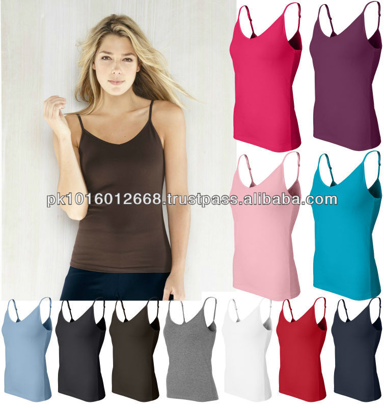Bella - Fitness,yoga,Ladies'Spandex Camisole Tank Top Shelf Bra