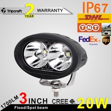 3inch 20w auto parts led work light led driving lighting heavy duty moto led 12v 24v
