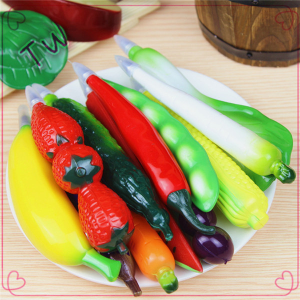 Eco-friendly plastic ball-point pen,cute vegetables shape pens ballpoint,free sample all kinds of decoration ball pens <strong>promotion</strong>