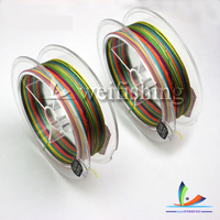 High quality 1 color per meter 5 colors 4 braided PE fishing line
