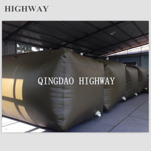 Foldable industrial 20ft bladder container for fuel, juice transportation