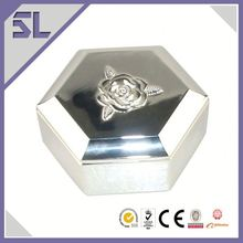 With Special Message Hexagonal Fashion Silver Jewelry Box Handmade Jewelry Box Wedding Arts And Crafts