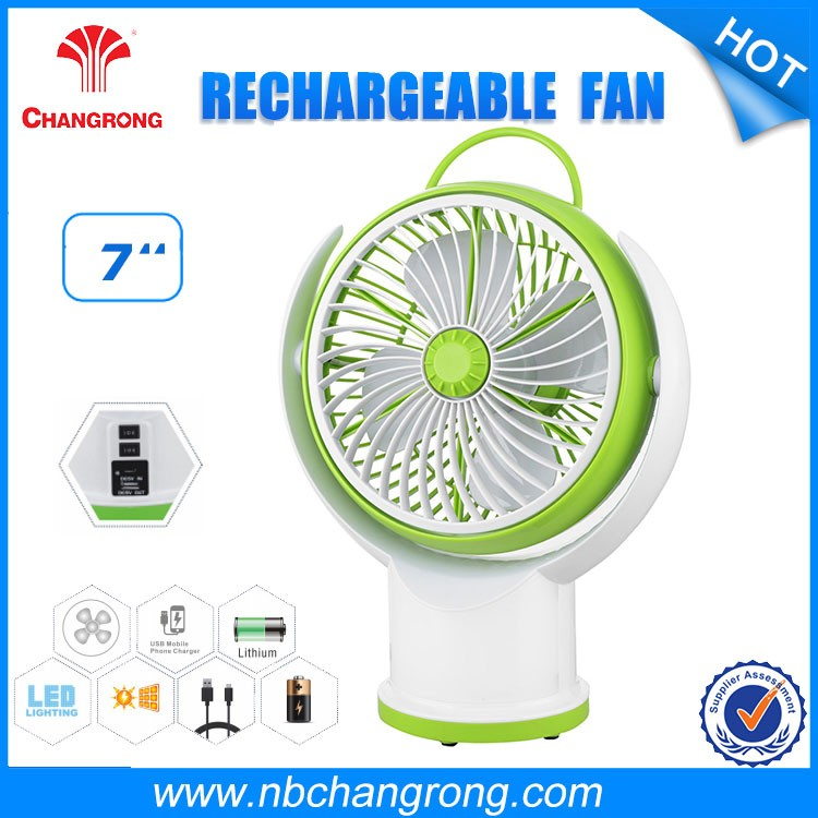 3 In 1 Price For Mini Rechargeable Fan with LED light portable mini fan