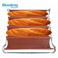 4 Loaves silicone baking baguette loaf bread mold tray utensils