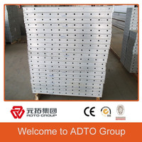 Aluminum wall panel for concrete formwork building