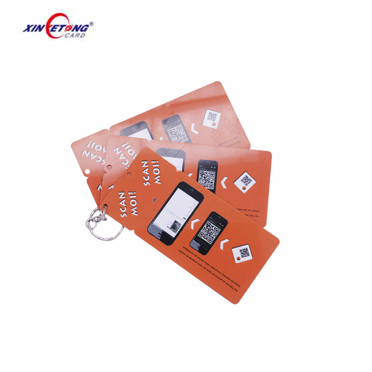Offset Printed Plastic Rewards Cards Keychain