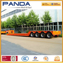 Heavy Duty excavator transportation Low Bed Truck Trailer For machinary transport