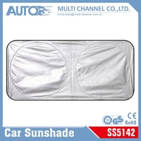 150*70cm 170T Polyester Sun Shade For Car Front & Rear Window