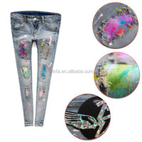 New new coming ladies waxed jeans in different colors
