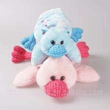 cute pink stuffed animal soft baby toys plush swimming duck for kids